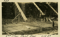 Lower Baker River dam construction 1925-06-16 2nd Floor Reinf Steel