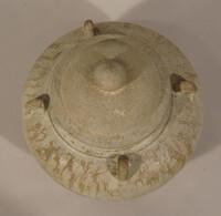 Sawankhalok ware jar, globular body with four loop handles at shoulder, with lid