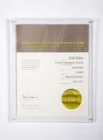 Football Certificate: Verizon Academic All-American Team, Erik Totten,             2001/2002