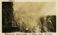 Lower Baker River dam construction 1925-09-08 Mucking East Side of Dam Site