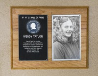 Hall of Fame Plaque: Wendy Taylor, Track and Field (100M Hurdles), Class of 1980