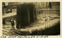 Lower Baker River dam construction 1925-05-10 Draft Tube Form 2N