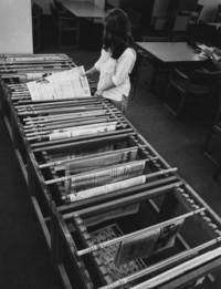 1978 Student at Newspaper Rack