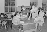1943 Building Boats In Fourth Grade Workroom