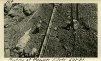 Lower Baker River dam construction 1925-06-28 Mucking at Dam Site E. Side
