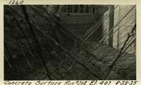 Lower Baker River dam construction 1925-08-28 Concrete Surface Run #202 El.407