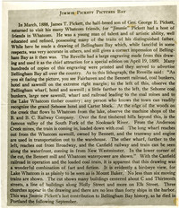 Page from publication 'The Reveille' depicting Jimmy Pickett