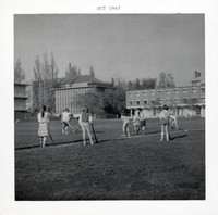1965 Girls Playing Field Hockey