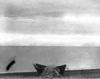 Unidentified campsite on Alaskan beach