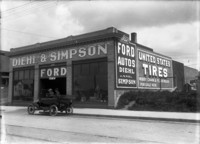 Diehl and Simpson Ford automobile dealership storefront