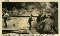 Lower Baker River dam construction 1925-08-11 Rock Surface #185 W. Side El.347