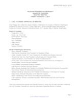 WWU Board of Trustees Minutes: 2014-02-7