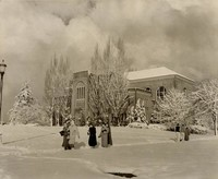 1950 Library: South Facade in Snow