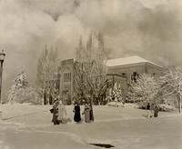 1950 Library: South Facade in Snow