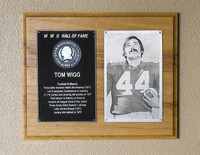 Hall of Fame Plaque: Tom Wigg, Football (Fullback), Class of 1981