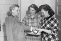 1945 Georgia Gragg With College Students
