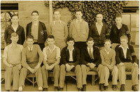 Two rows of young men, possibly students