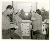 Roy B. Nelson, Chief Observer, Mrs. Mary Eakin, and Mrs. Nelson