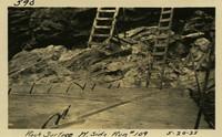 Lower Baker River dam construction 1925-05-20 Rock Surface W. Side Run #109