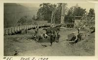 Lower Baker River dam construction 1924-09-03 Staging area