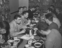 1949 Men's Residence Hall: Residents Eating