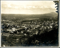 Right side of panorama triptych showing Bellingham, WA, from Sehome hill overlook