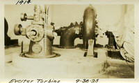 Lower Baker River dam construction 1925-09-30 Exciter Turbine