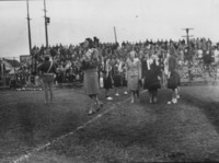 1946 Homecoming Court at Football Game