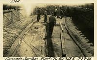 Lower Baker River dam construction 1925-07-29 Concrete Surface Run #176 El.3685