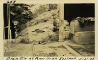 Lower Baker River dam construction 1925-05-31 Drain Tile at Power House East Wall