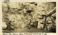 Lower Baker River dam construction 1925-09-07 Rock Surface Run #212 El.397.5