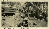 Lower Baker River dam construction 1925-08-27 Tail Race