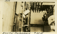 Lower Baker River dam construction 1925-09-23 Exciter Switchboard