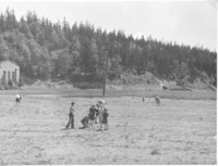 1943 Students Prepare Campus School Ground For Landscaping