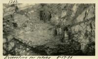 Lower Baker River dam construction 1925-08-17 Excavating for Intake
