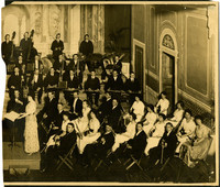 Davenport Engberg Symphony Orchestra - Right half of photograph of seated orchestra