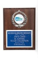 Football Plaque: GNAC Academic Team Champion, 2004/2005