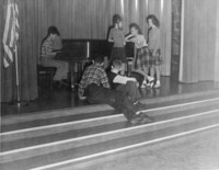 1947 Playing The Piano In The Campus School Auditorium