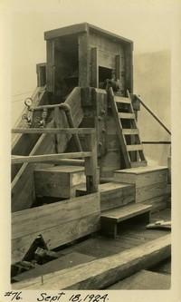 Lower Baker River dam construction 1924-09-18