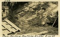 Lower Baker River dam construction 1925-08-26 Rock Surface Run #200 El.393