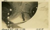 Lower Baker River dam construction 1925-10-22 Branch Off, Stn 12+02