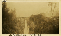 Lower Baker River dam construction 1925-10-21 Lake Shannon (with railroad trestle)