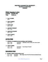 WWU Board of Trustees Packet: 2014-12-12