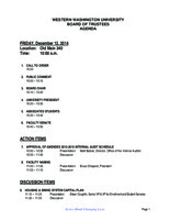 WWU Board of Trustees Packet: 2014-12-12