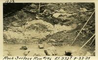 Lower Baker River dam construction 1925-08-22 Rock Surface Run #196 El.372.7