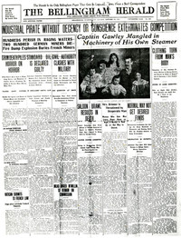 Bellingham Herald front page, Monday, January 18, 1907