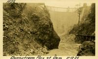 Lower Baker River dam construction 1925-11-12 Downstream Face of Dam