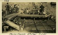 Lower Baker River dam construction 1925-06-15 Placing concrete 4th floor
