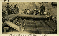 Lower Baker River dam construction 1925-06-15 Placing concrete 4th floor