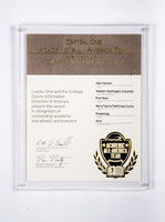 Track and Field (Men's) Plaque: Academic All-American Team, Alex Harrison, 2012